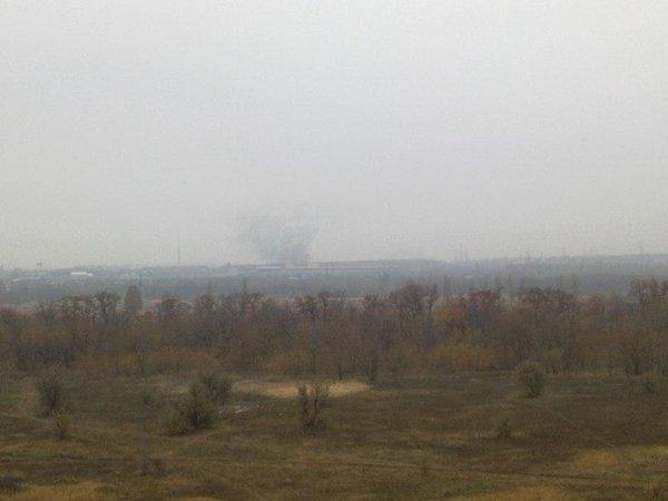 Something is burning in Makiivka