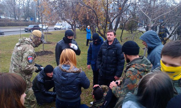 One of the patriots was wounded in the head in Kharkiv