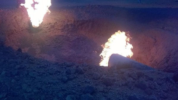 An explosion on the pipeline  In the Ryazan region
