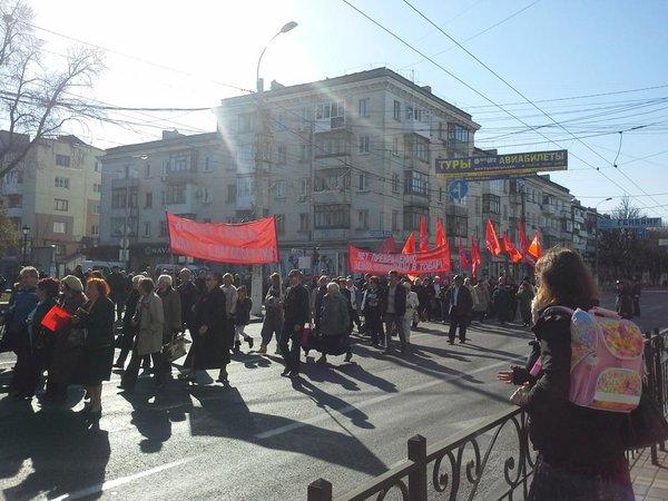 Communists' rally in occupied Simferopol