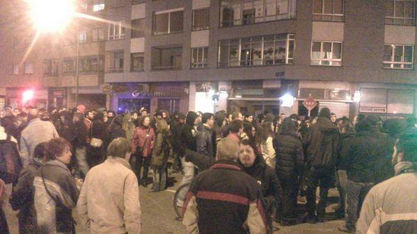 Gamonal Burgos, Spain. Riots against use of funds for rebuilding plaza instead of social services