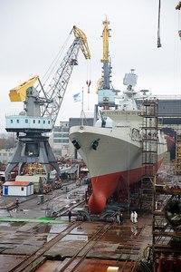 Russian class frigate 'Admiral Essen' launched at Yantar Shipyard in Kaliningrad on Nov 7