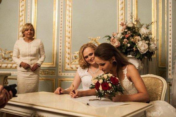Two women got married in Saint-Petersburg yesterday