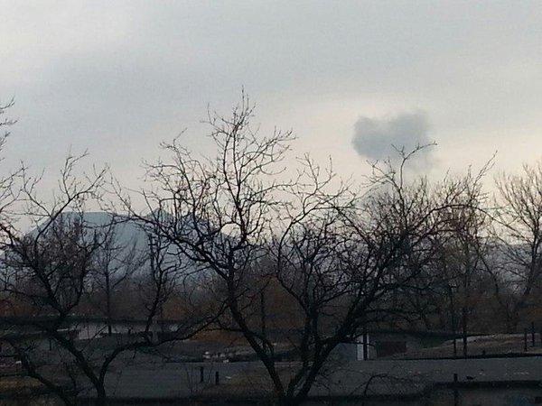 Explosion on Kapitalnaya street in Donetsk