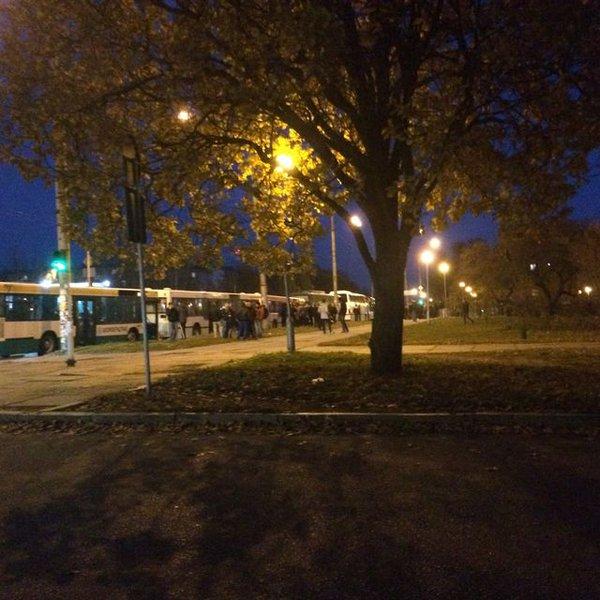Titushky loading in buses in Zaporizhye