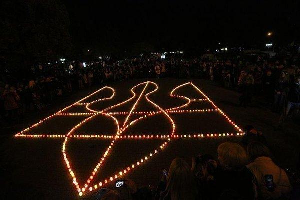 Zaporizhye. Patriots' flash mob