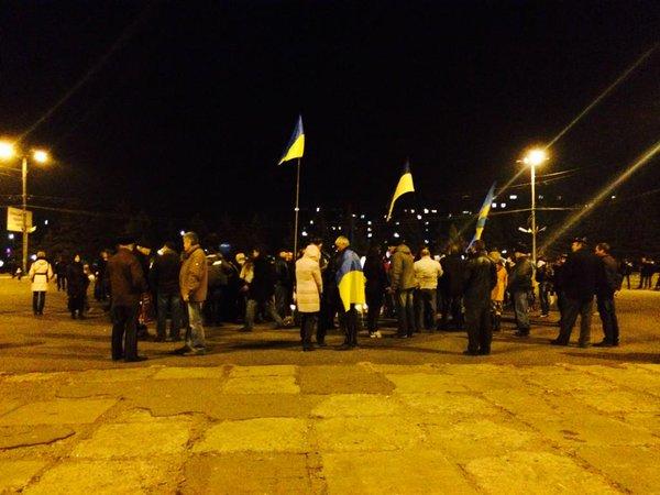 Patriots' rally in Druzhkivka