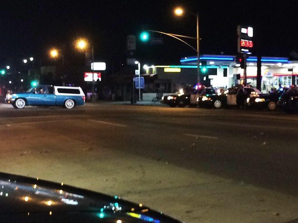 LAPD attempting to disable suspect vehicle with controlled shots fired at vehicle and not suspect.
