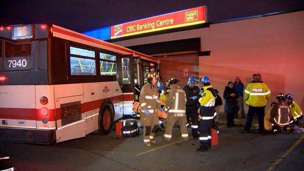 Traffic Services says 2nd person dead from car involved in TTC crash on Kipling Av. Bus vs bank.