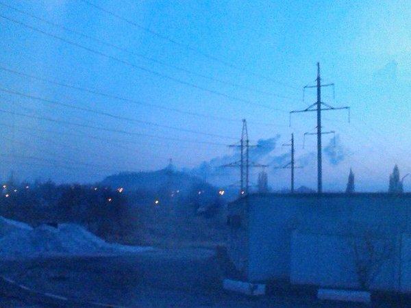 Budenovka, near Isolation. Something is burning