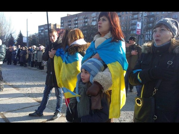 Rally in Mariupol today