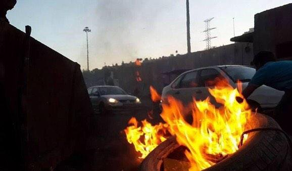 Ongoing clashes between youth and police forces in Shaufat refugees camp
