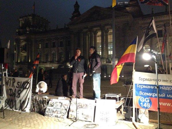 Pro-Novorussia rally in Berlin near Reichstag