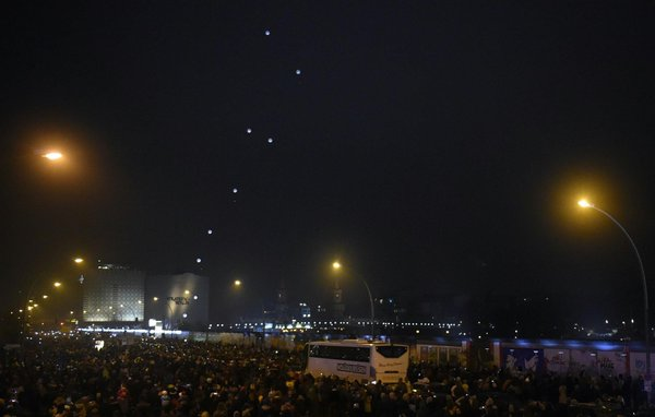 Berlin, the balloons flew away, a wall fell