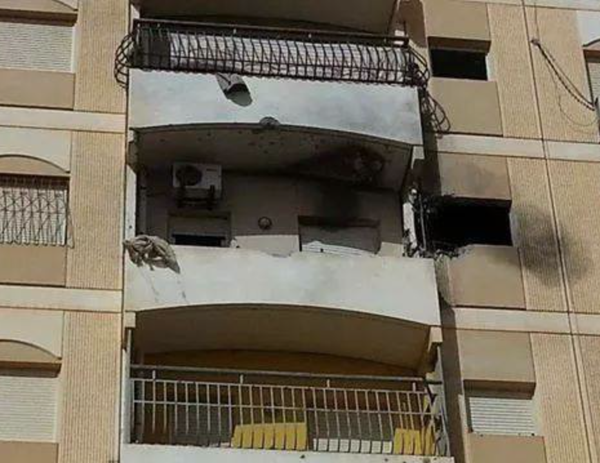 An errant missile struck residences in Garyounis earlier today. Benghazi