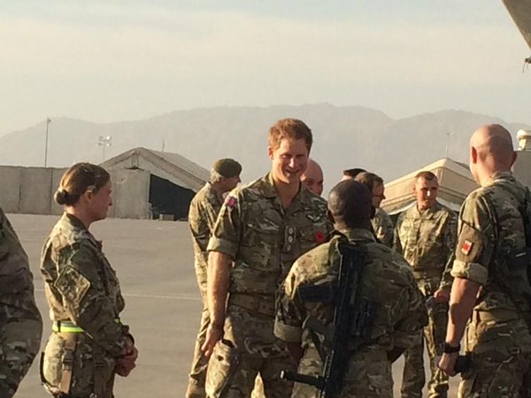 British Troops in Kandahar enjoyed the surprise visit of Prince Harry today