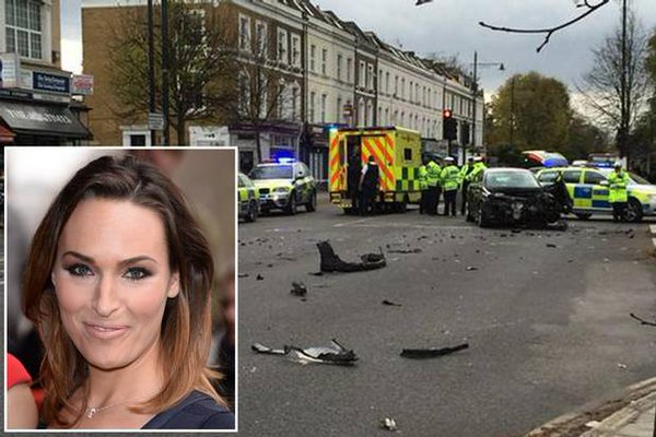 High speed police chase ends in massive crash which misses Sky News presenter 'by an inch'