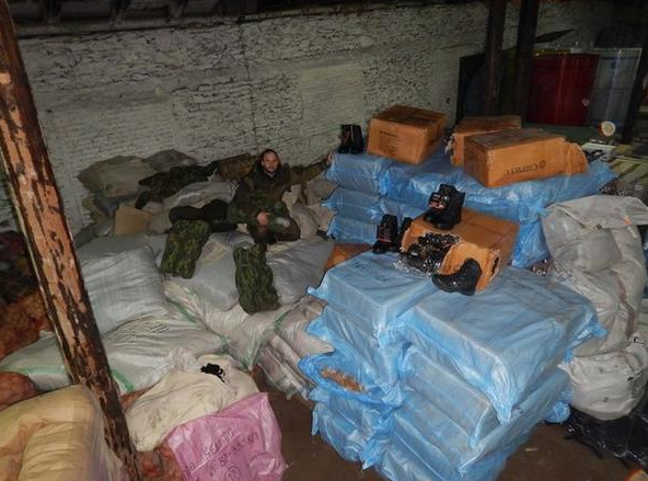 The contents of humanitarian convoy from Russia