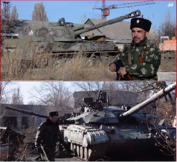 Cossacks Perevalsk Luhansk Ukraine collect,repair captured military vehicles