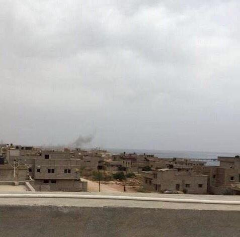 Libyan Army carried out airstrikes in Derna today.