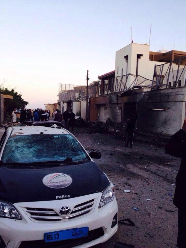 Photo: Explosion near the UAE Embassy in Tripoli  Libya