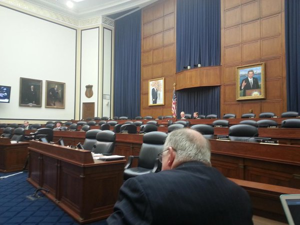 We're at war with ISIL, Gen Dempsey says. Empty committee room for Dempsey/Hagel doesn't reflect v much seriousness