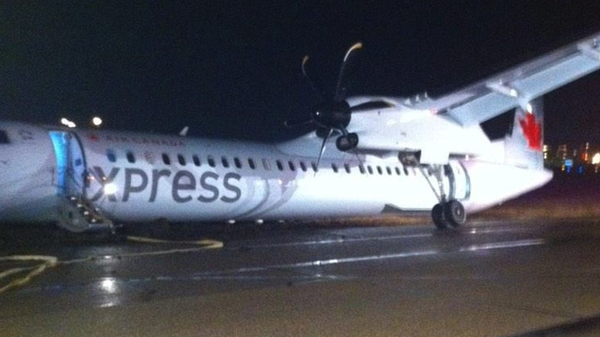 Air Canada Propeller Rips Through Window During Landing, Almost Beheads Lady Passenger