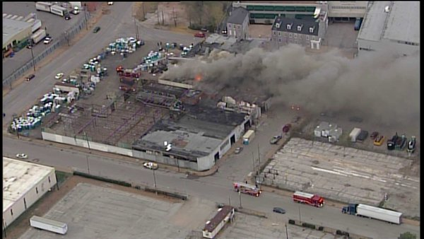 A 2 alarm fire at the 100 block of Victor by the Anheuser Busch brewery. STL