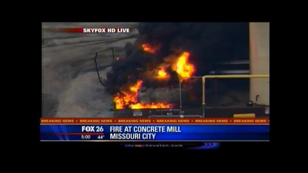 Missouri City & Stafford fire departments are battling a  fire at a concrete mill. Emergency crews on scene