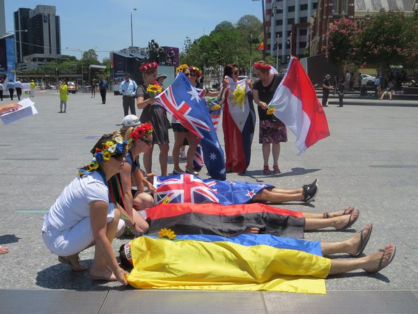 Ukrainians vs Putin  in Brisbane
