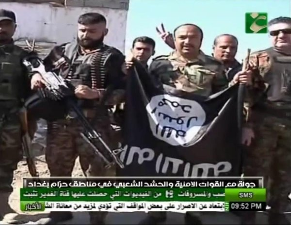 Iraq; ISF + Shia volunteers securing areas from ISIS in Baghdad's southern belts