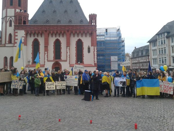 Ukrainians' rally in Frankfurt today