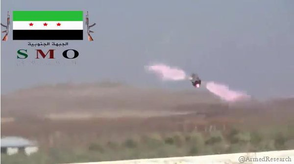 FSA use TOW ATGM to destroy SAA field artillery in Daraa,