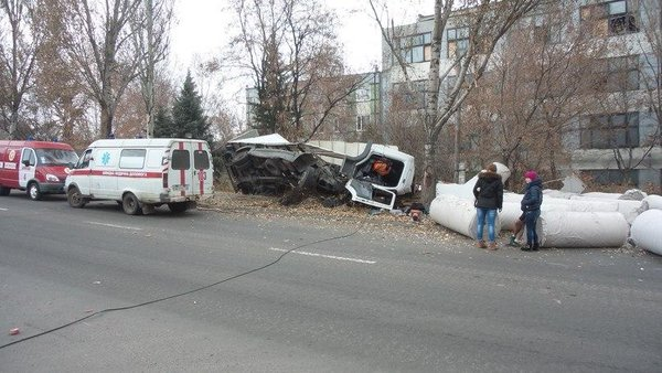 Donetsk Road Accident in Kuibyshev district,  The driver died