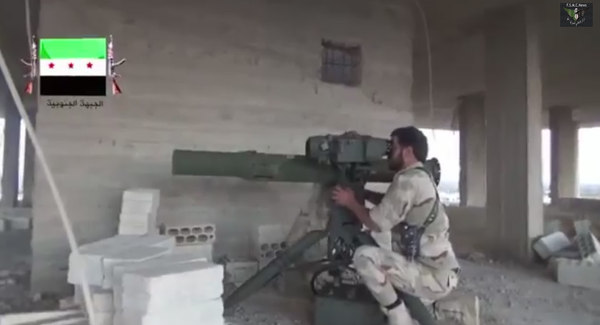 Rebels maneuver their missiles through mosques to hit Asad regime army in Al-Shaykh Maskin