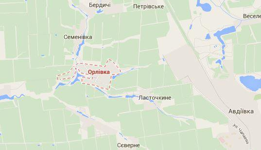 Militants attacked Ukrainian forces near Orlivka. Attack repelled