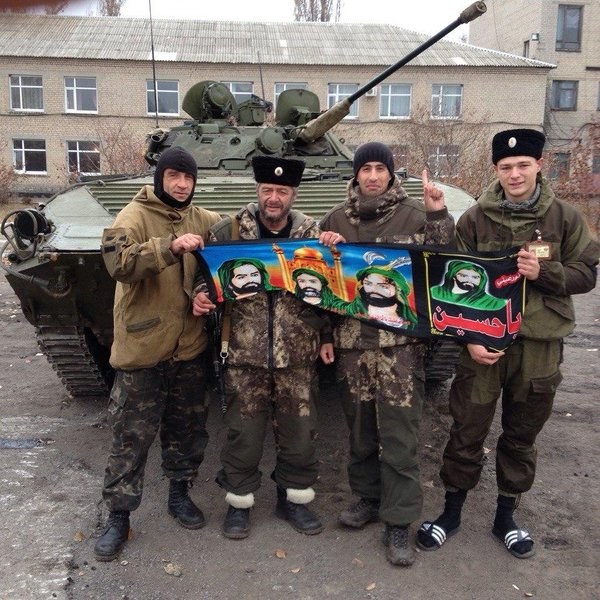 Russian militants in Krasnyi Luch
