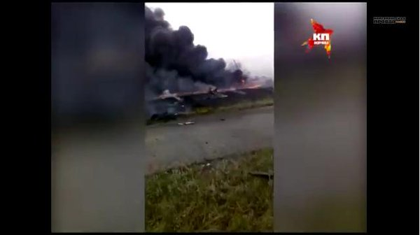 Reportedly new video of MH17 moments after its crash in Ukraine