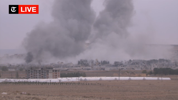 The explosions today in Kobane are perhaps the largest since the beginning of the battle there against ISIS.
