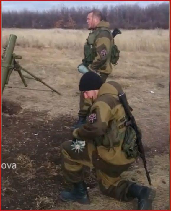 Russia militants firing Mortars at Ukraine troops near Donetsk Airport Putin