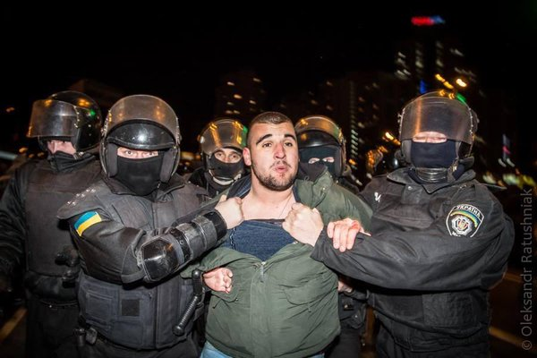 Clashes in Kyiv after Protest against illegal building