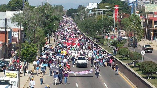 Rally in Oaxaca, Mexico