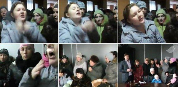 Food riot in Ukraine's Russia-occupied Yenakiyeve.