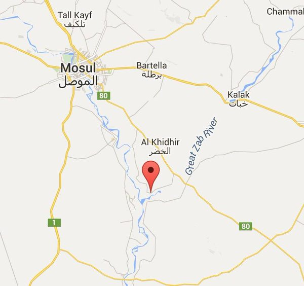 US-Lead Coalition bombarding ISIS targets in Kubayba village south east of Mosul .
