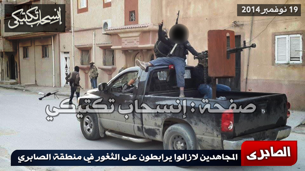 Shura Council fighters inside Saberi today fighting Haftar Forces today, Benghazi, Libya