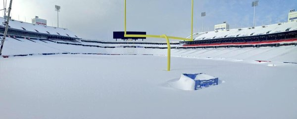 Snow-covered Ralph Wilson Stadium