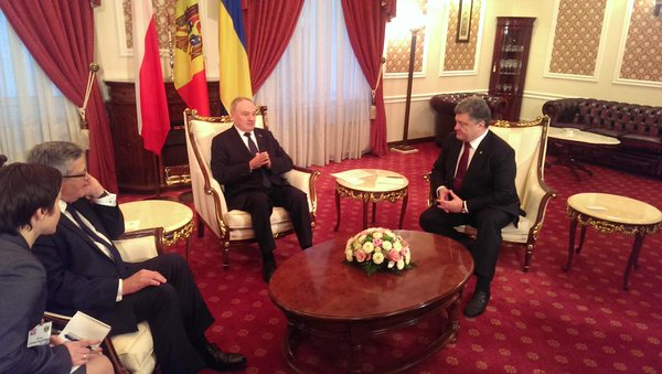 Began the meeting of the presidents of Ukraine, Moldova and Poland in Chisinau.