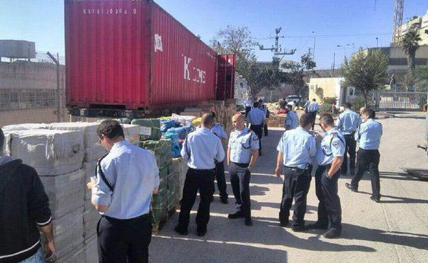 Huge shipment of firecrackers & dangerous material heading to East J'lem, discovered at Ashdod port.