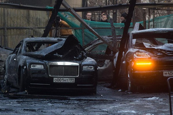 In Moscow burned 13 supercar, total cost 150 million rubles