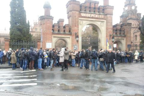 In Chernivtsi was held March of Dignity and Freedom